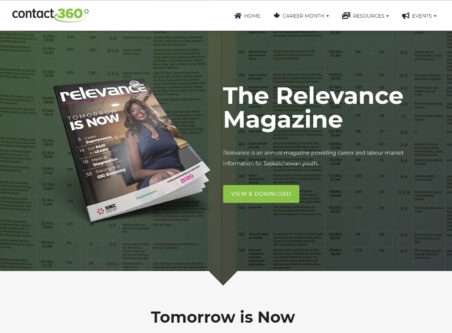 Contact 360 Relevance Magazine hero page