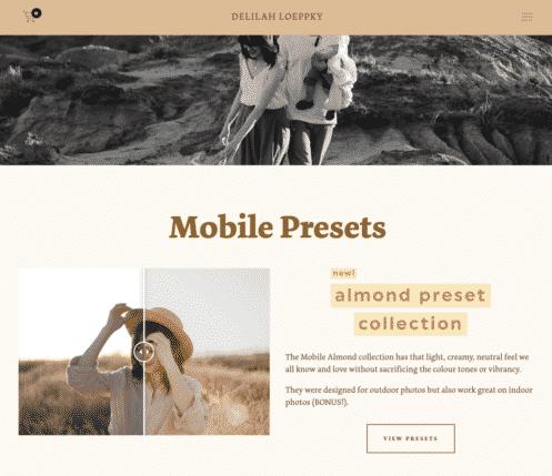 LoeppkysLife homepage on tablet