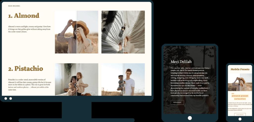 LoeppkysLife website on desktop, tablet, and mobile