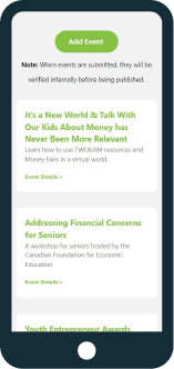SaskMoney website on mobile