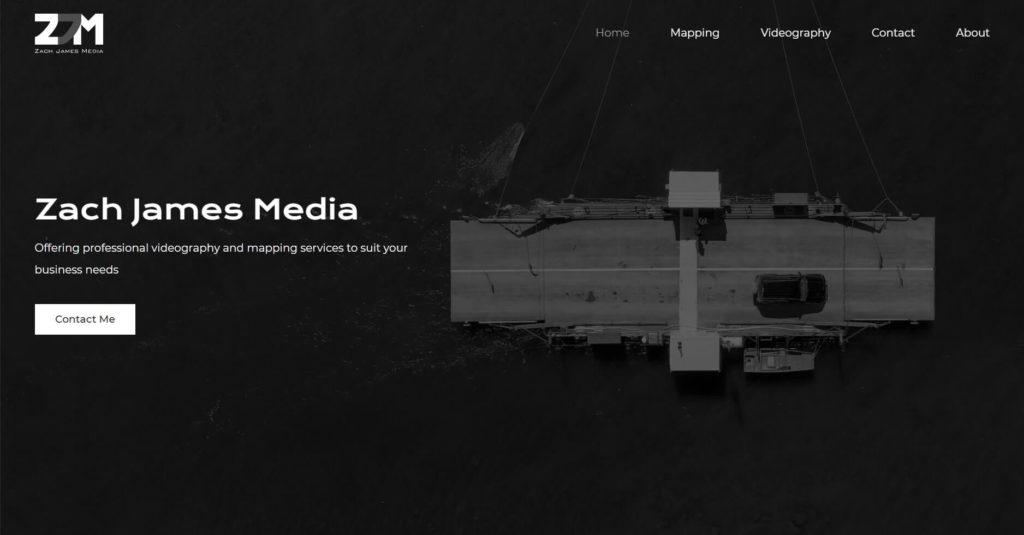 Zach James Media homepage