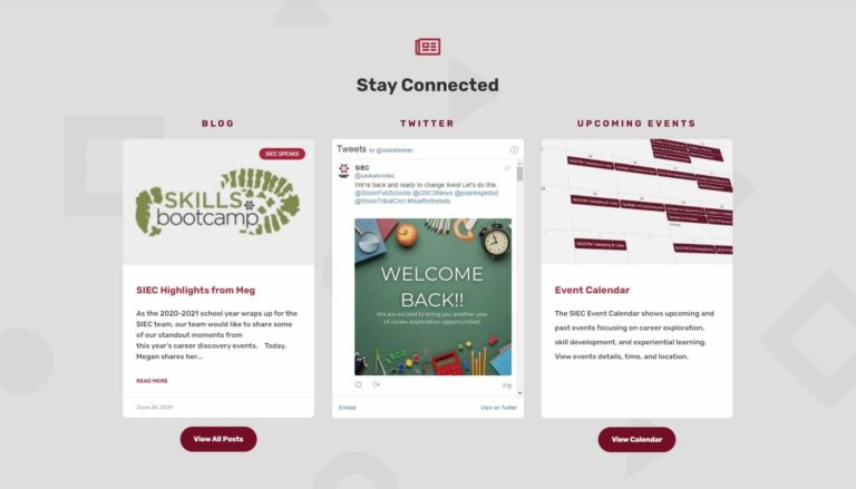 stay connected page